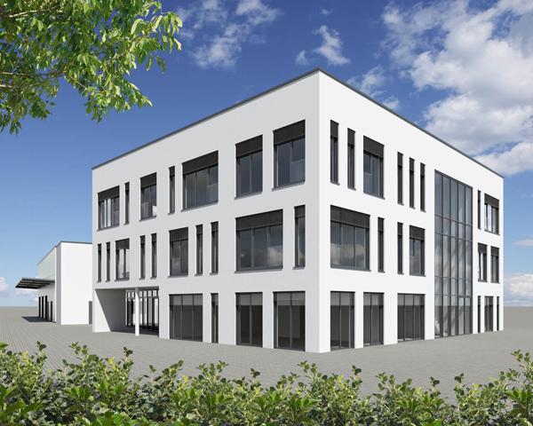 Firma Gessler, Gebäude mit vielen Fenstern in Eppertshausen
